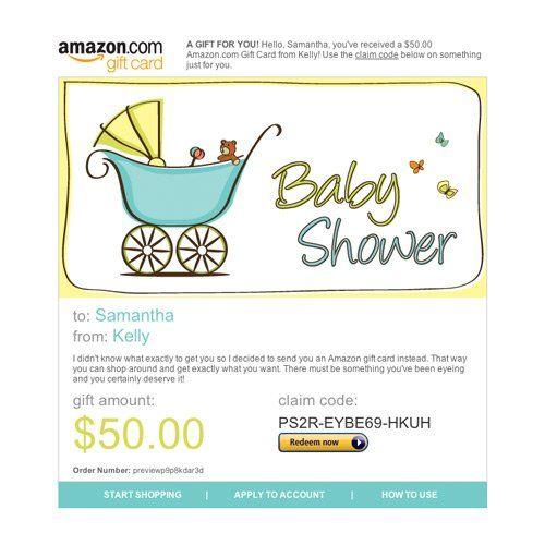 Amazon Gift Card E Mail Baby Shower 50 00 Amazon Gift Cards Best Amazon Gifts Amazon Gifts