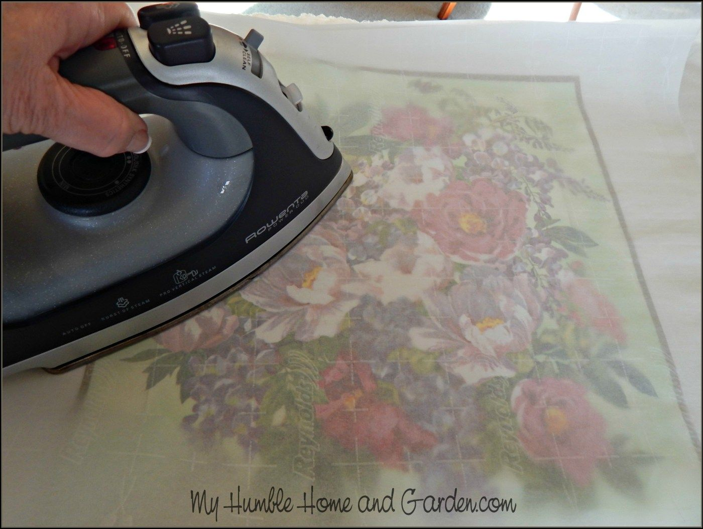 Easy Paper Napkin Transfer That Will Blow Your Mind! - My Humble Home and Garden