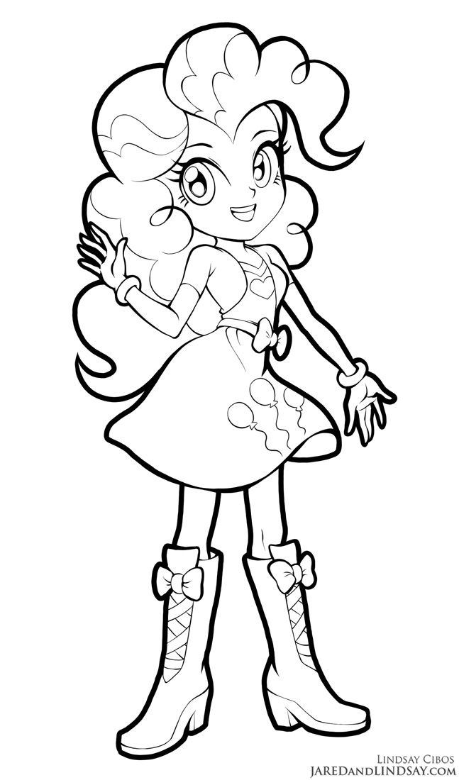 Pinkie Pie Equestria Girls by LCibos colouring page