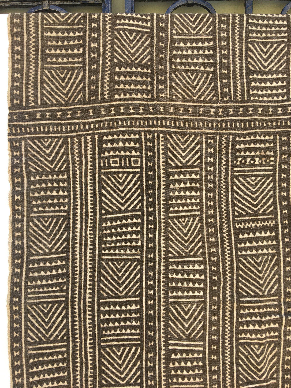 Unique Pattern Antique Bamana mud Cloth