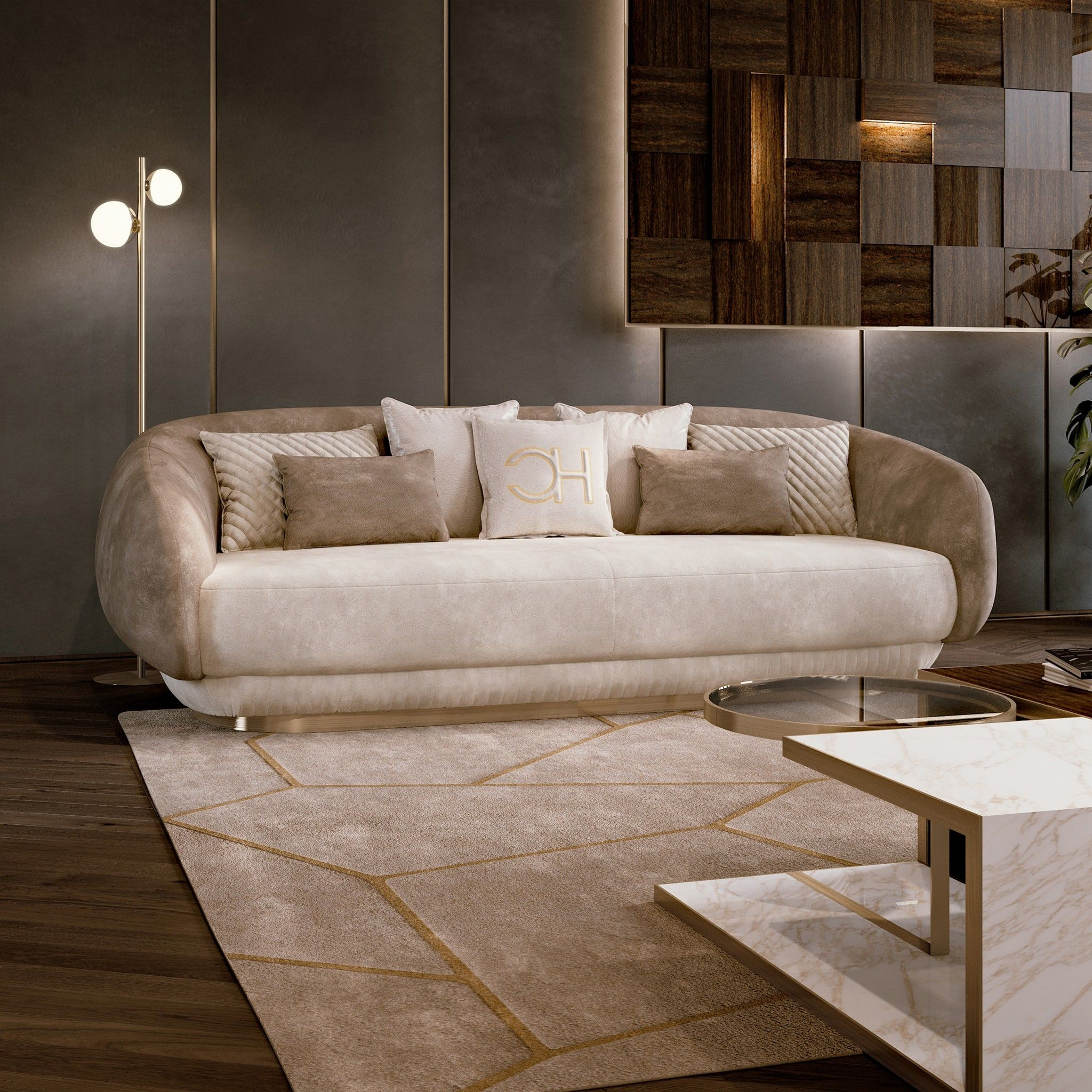 Carpanese Home Italia Our Moon Sofa Hugs You With Its So Contemporary Designers Furniture Da Vinci Lifestyle In 2020 Luxury Furniture Sofa Luxury Sofa Fabric Sofa Design
