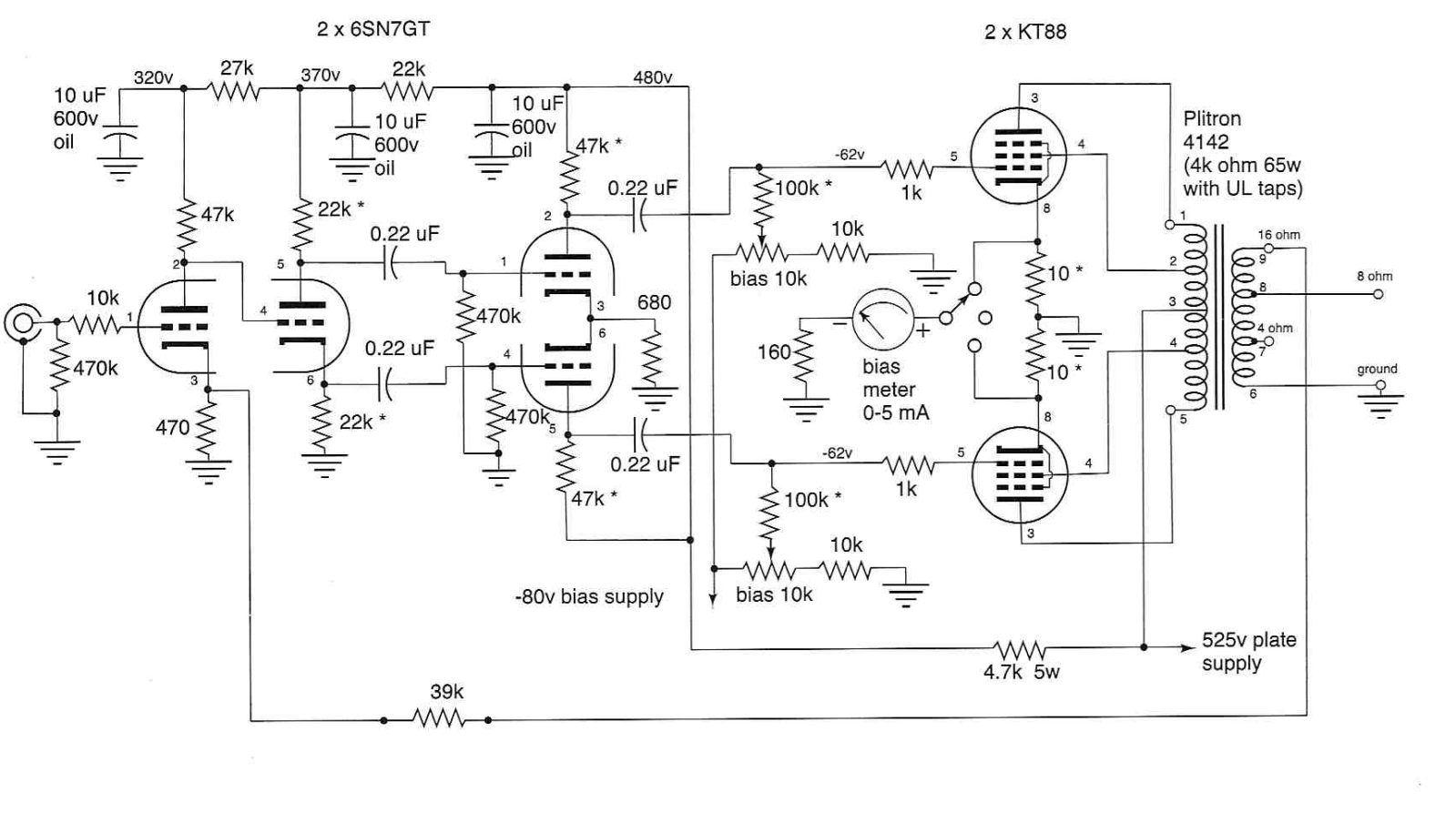 Ampli Push Pull Quad El84 Recherche Google Jarves In 2018 Amp Circuit Diagram Valve Amplifier Vacuum