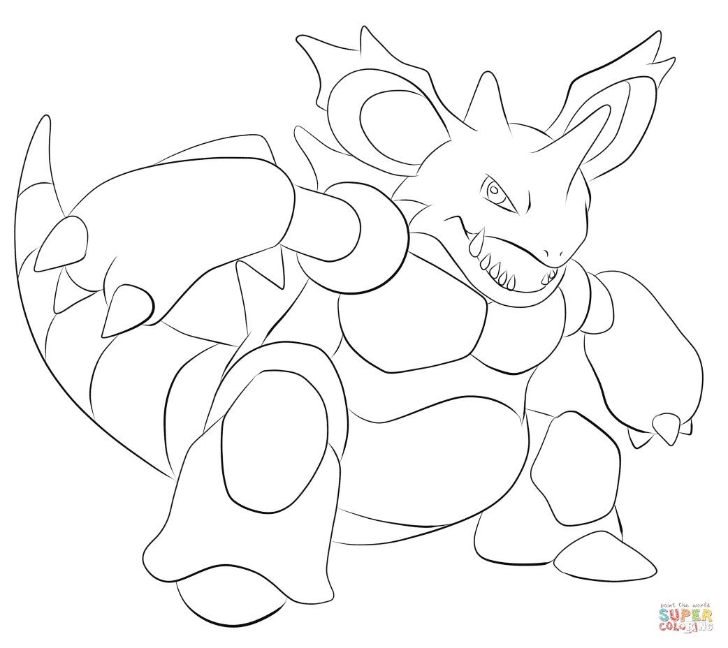 Pokemon Nidoking Coloring Pages From The Thousands Of Pictures On The Internet Regarding Pokem Pokemon Coloring Pages Cartoon Coloring Pages Pokemon Coloring