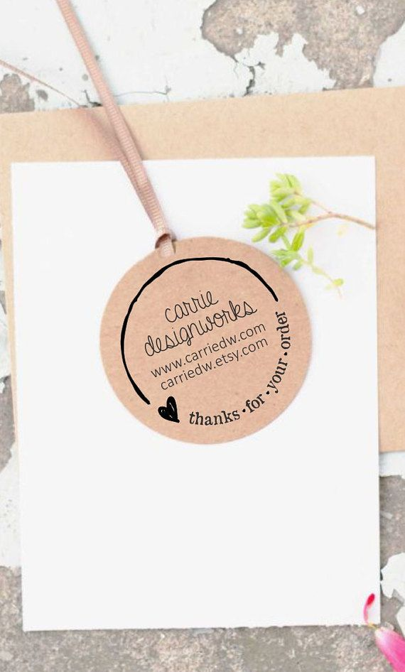 Custom Logo Stamp Business Card Stamp Thank You Business Stamp