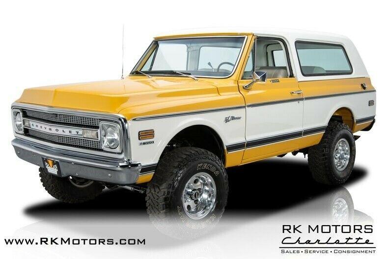 Ebay Advertisement 1970 Chevrolet K 5 Blazer 1970 Chevrolet K 5 Blazer Yellow Suv 5 3l Gm Vortec V8 4 Speed Automatic Chevrolet Suv Chevrolet Blazer