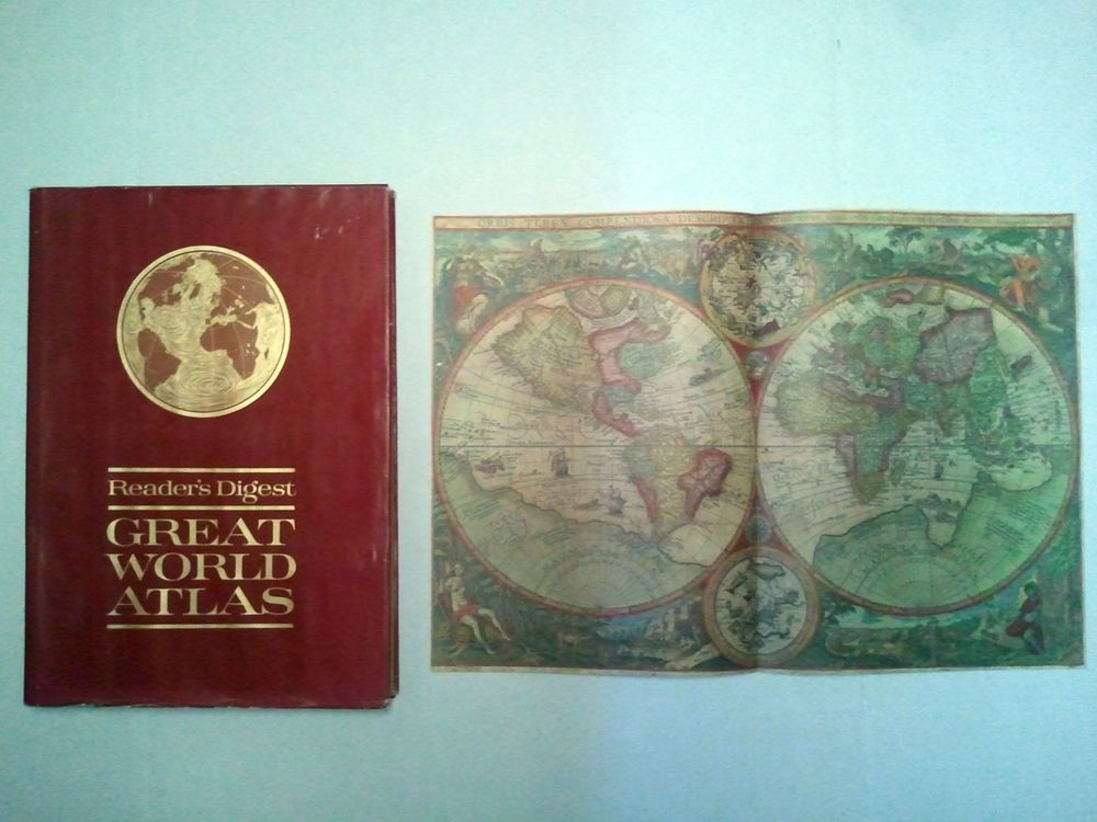 1963 readers digest great world atlas w map first edition 1963 readers digest great world atlas w map first edition large gumiabroncs Images