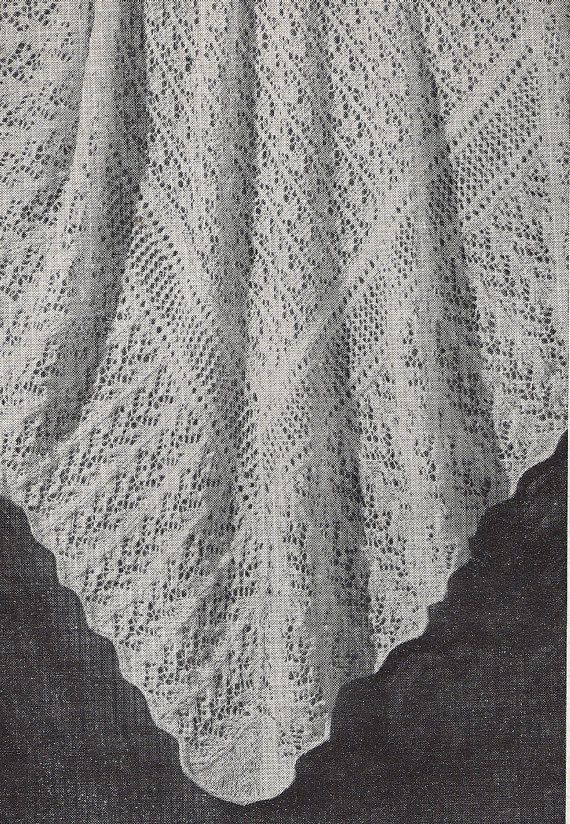 Fairytale Lacy Shawl Or Baby Blanket 1940s Design Australian