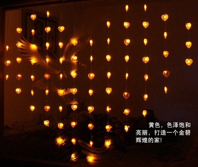 Decorative Patio Lights String And String Lights Indoor Of Various Kinds To  Satisfy Your Needs For Romantic Led Bead Curtain Light 2m *1.6m 78 Leds  Heart ...