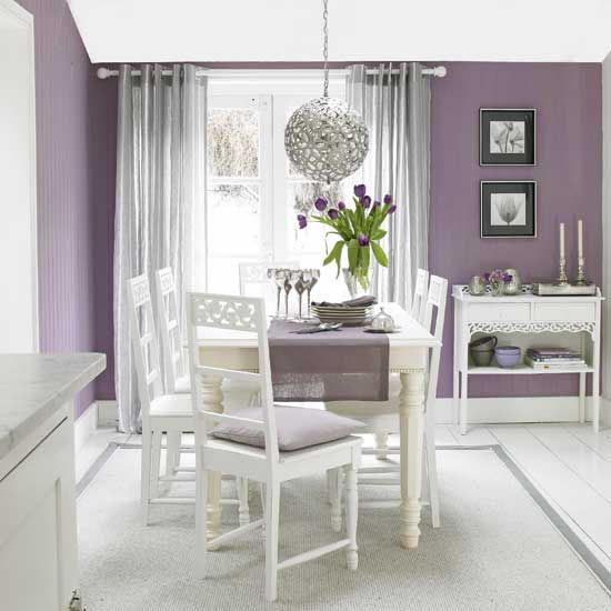 Soft Purple Grey And Purple Living Room