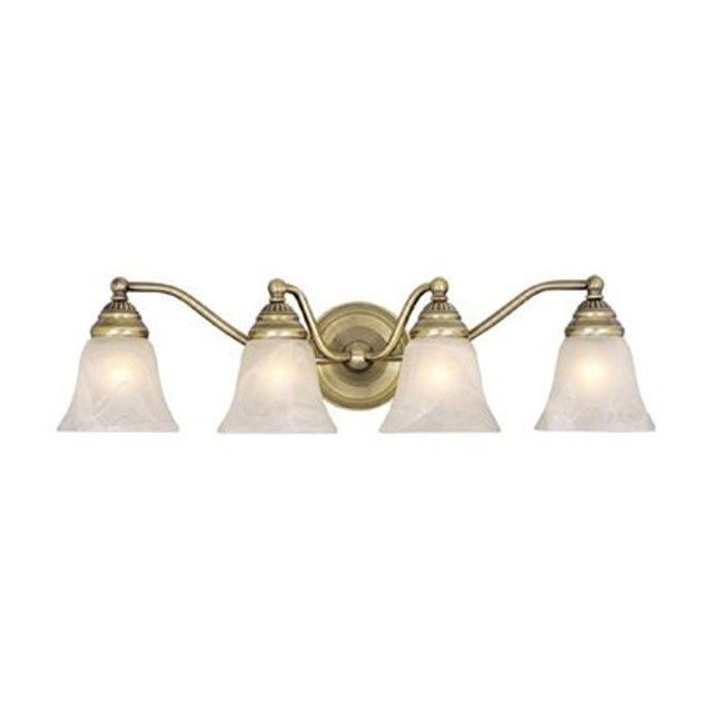 Photo of Great Picture of Antique Brass Light Fixtures Bathroom