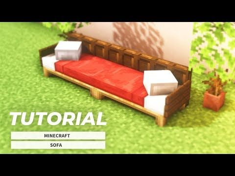 Minecraft Easy How To Make A Stylish Sofa Tutorial Youtube In 2020 Minecraft Designs Minecraft Room Minecraft