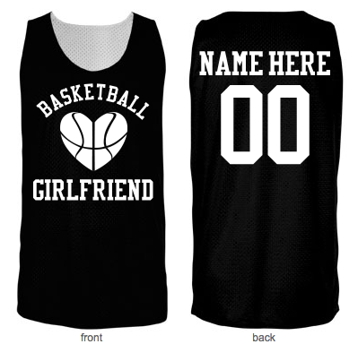 Basketball Girlfriend Mesh B-Ball jersey you can personalize. Great for  showing your march madness in! 3db27168e