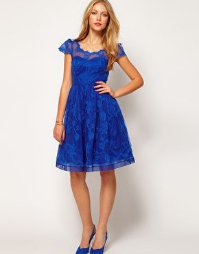 Skater Dress with Embroidery. Similar to one you like for bat ...