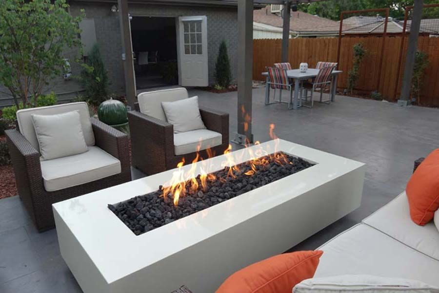 Gas Fire Pit As Coffee Table