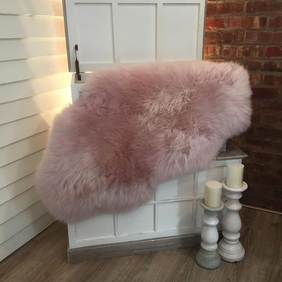 Luxury Powder Pink Sheepskin Rugs