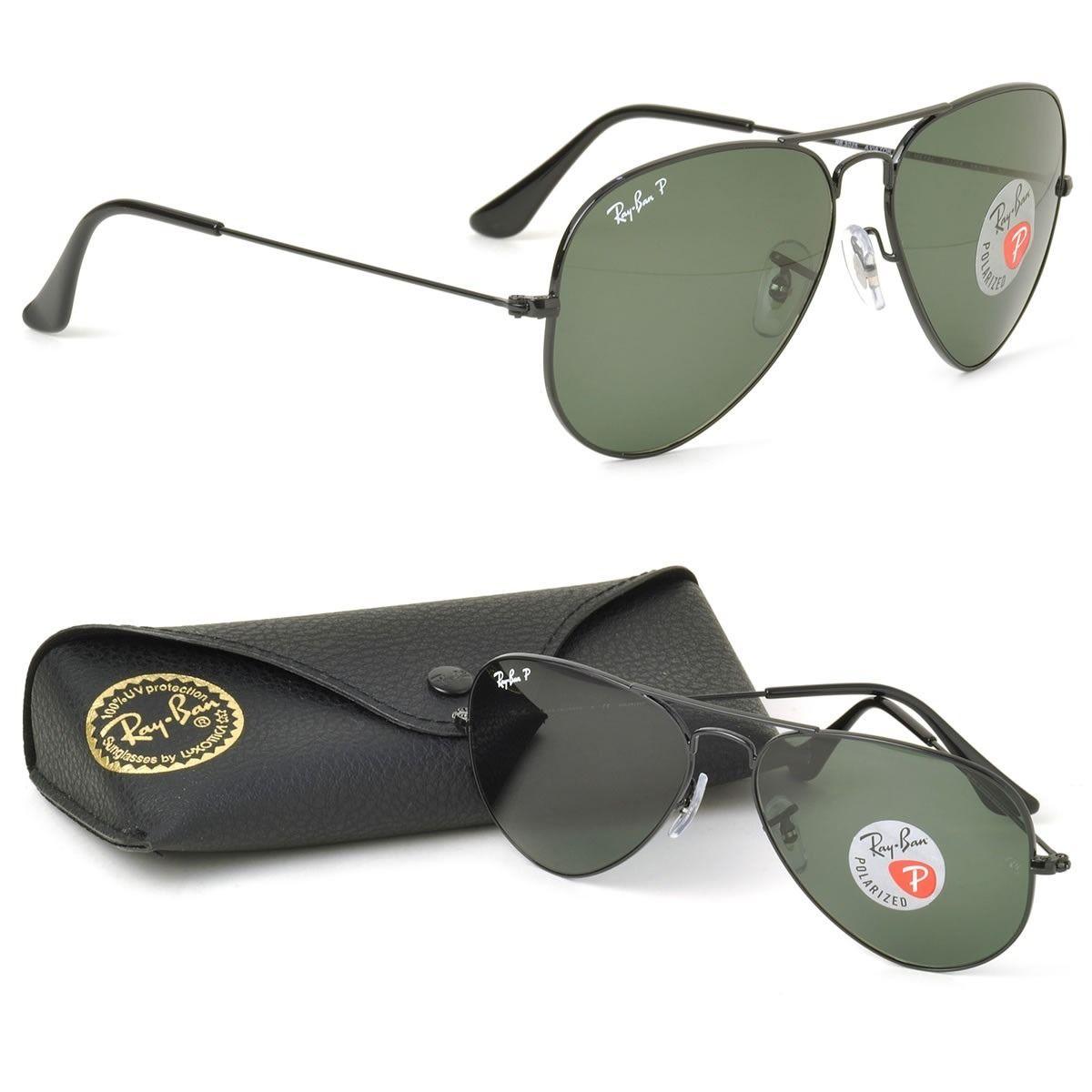 Óculos De Sol Aviador Polarizado Masculino - Feminino+brinde ... 63091fe742