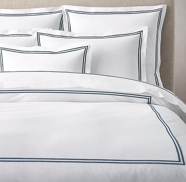 Italian Hotel Satin Stitch White Duvet Cover White Duvet Covers White Duvet Master Bedroom Ensuite