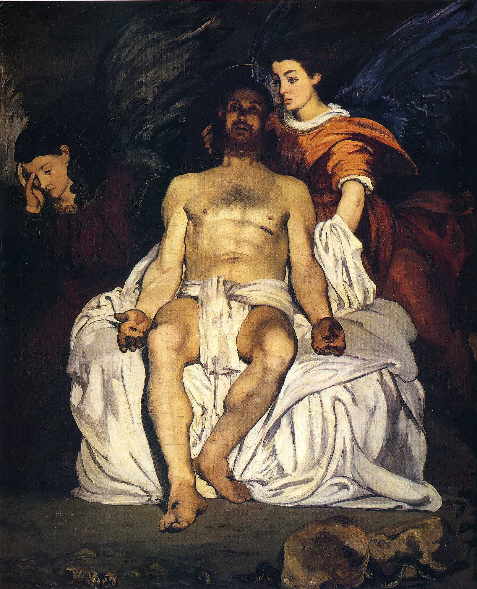 """""""The Dead Christ with Angels"""" by Edouard Manet,1864"""
