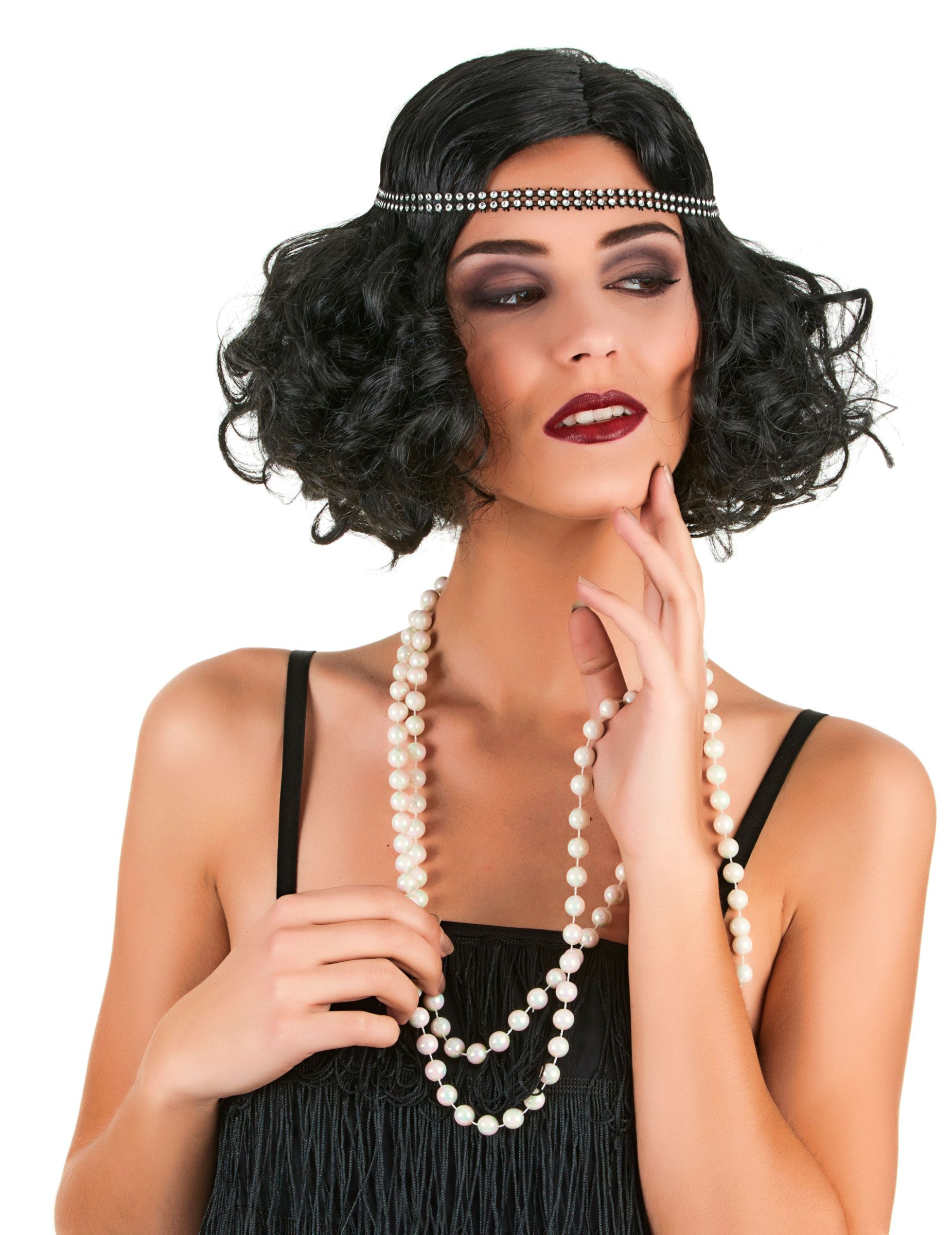 Perruque charleston noire femme | poses |