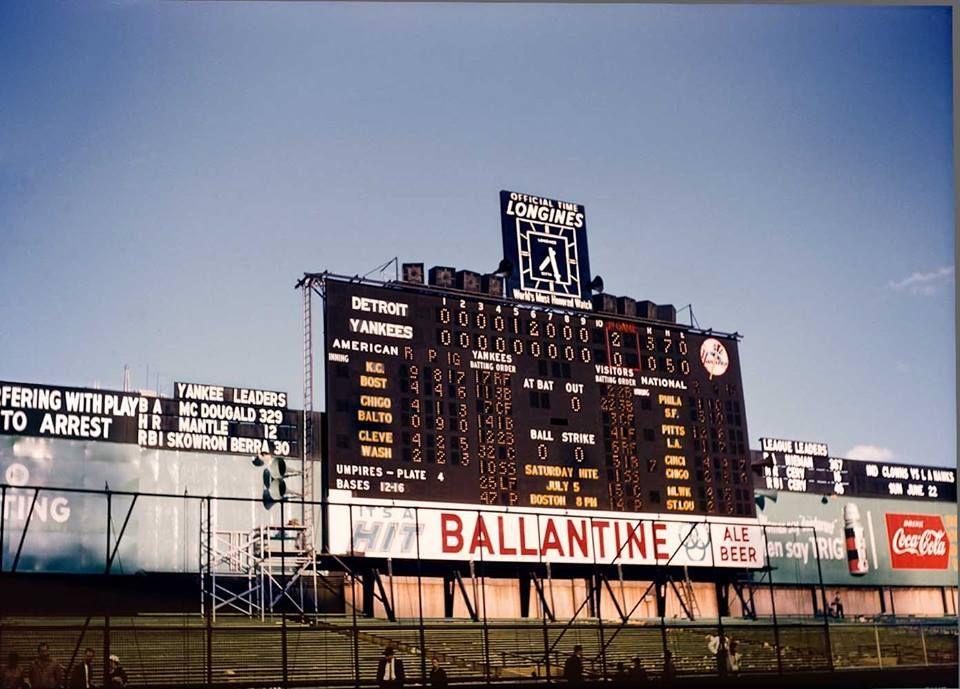 Old Yankee Stadium scoreboard | Green Cathedrals ...  Yankees