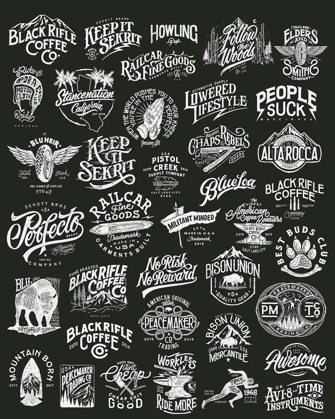 1 358 Likes 15 Comments Khairul Fikri Khairulitie On Instagram A Collection Of The Most Entire Wor Vintage Logo Design Lettering Design Typography Logo