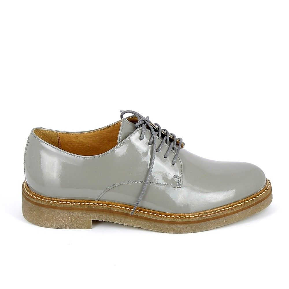 KICKERS Oxfork Gris Vernis | Chaussures habillées pour