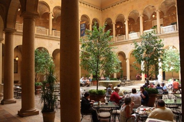Rozzelle Court Restaurant in the Nelson Atkins Museum of Art