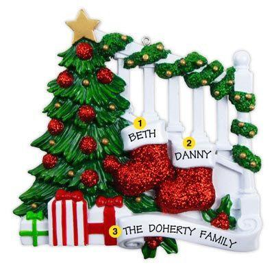 Personalized Christmas Ornament Two por KUTEKUSTOMKREATIONS en Etsy
