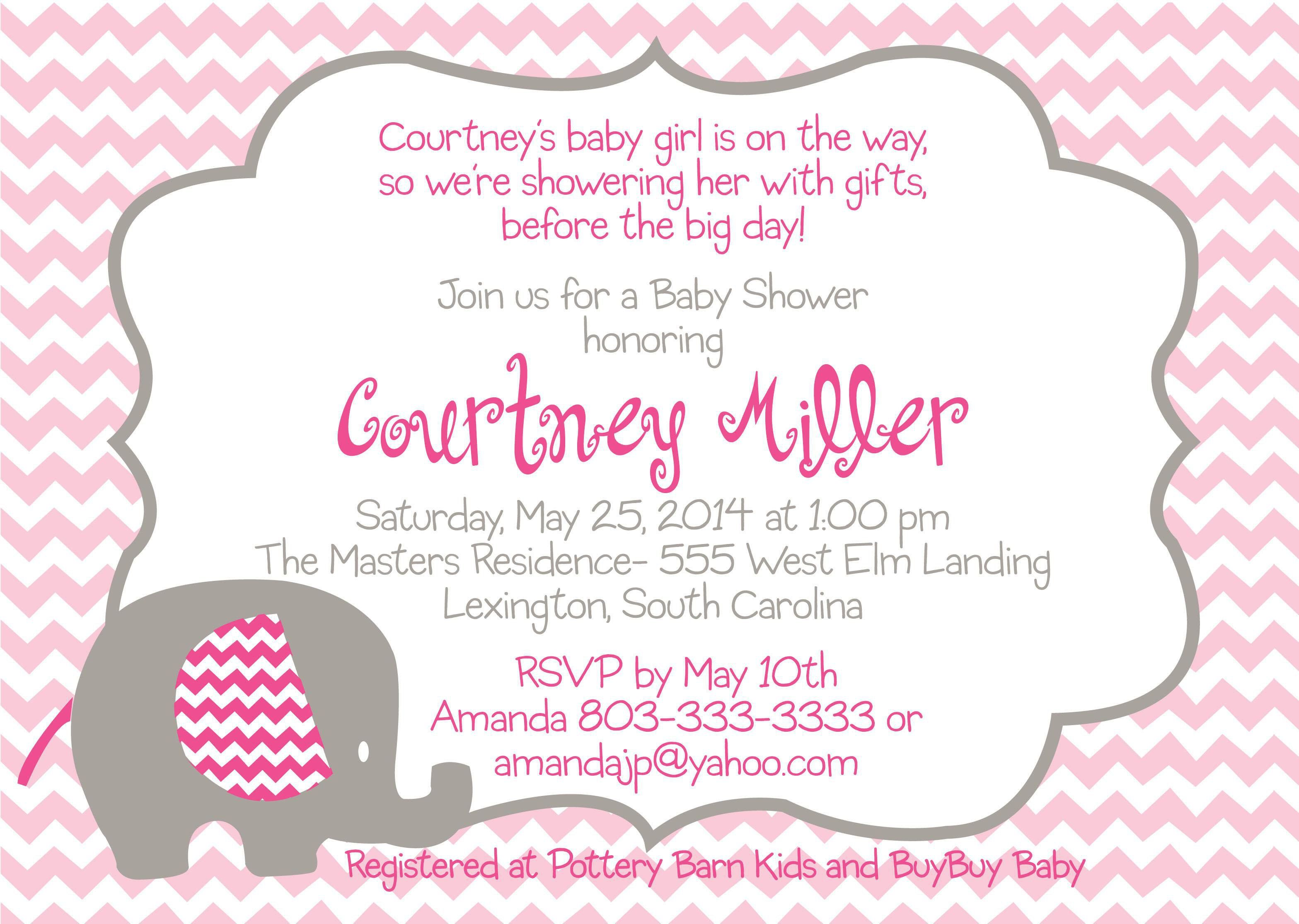 The fascinating free baby shower invitation templates for Baby shower decoration templates
