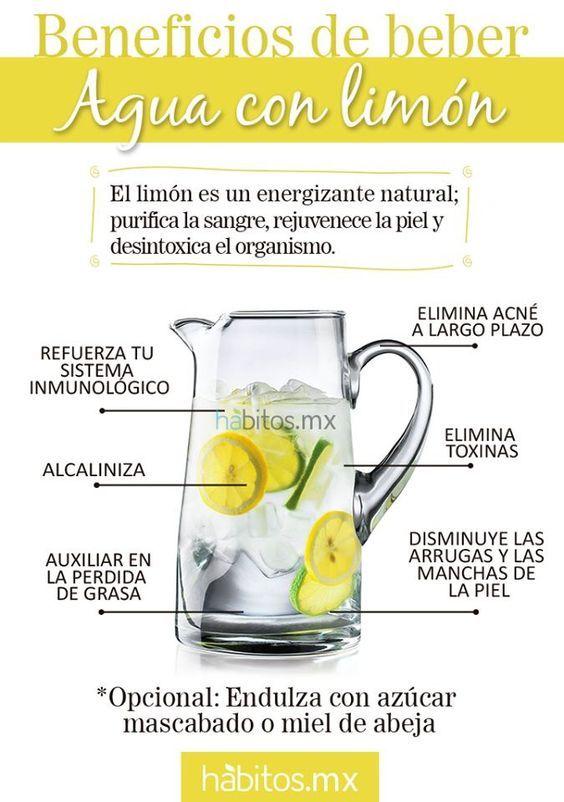 Limon y agua tibia para bajar de peso
