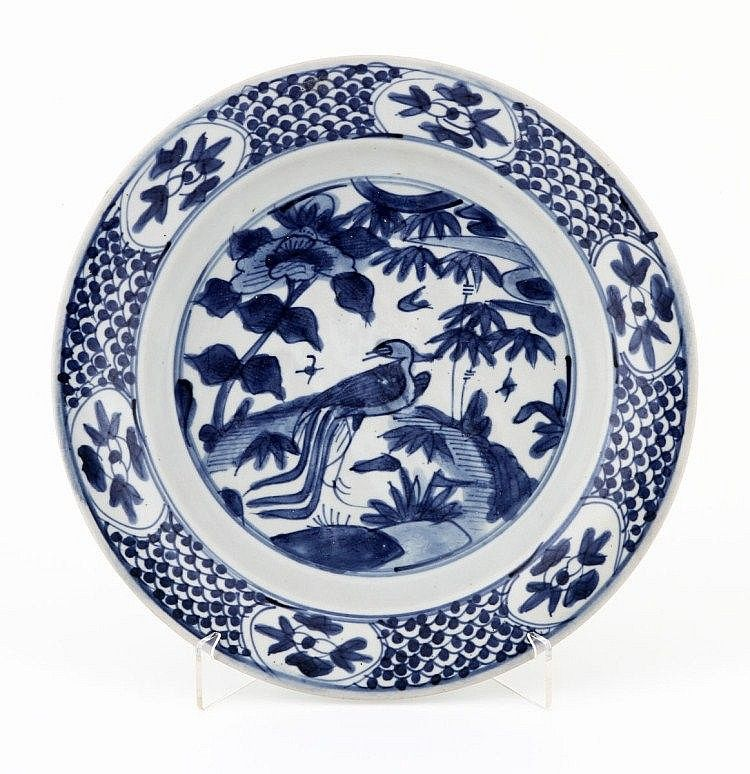 PLATE in Chinese ceramics Ming Dynasty Swatow decorated in blue and white representing at the centre a phoenix and trees.  sc 1 st  Pinterest & PLATE in Chinese ceramics Ming Dynasty (1368-1644) Swatow ...