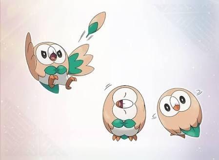 Rowlet - Grass/Flying - Pokemon Sun & Moon starter