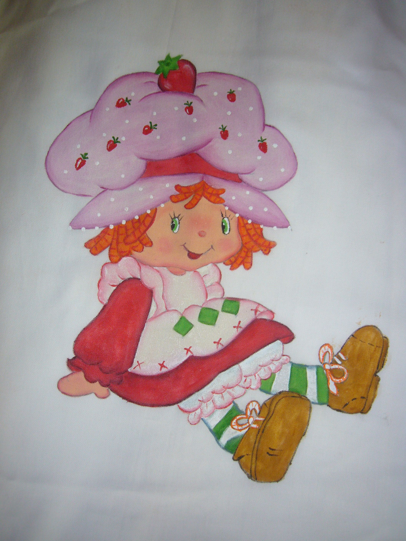 Moranguinho pintura tecido pinterest - Patrones para pintar en tela ...