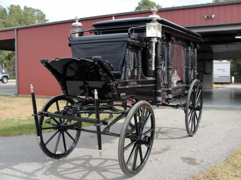 ANTIQUE HORSE DRAWN HEARSE (RESTORED) - Gilbert Jeeps and