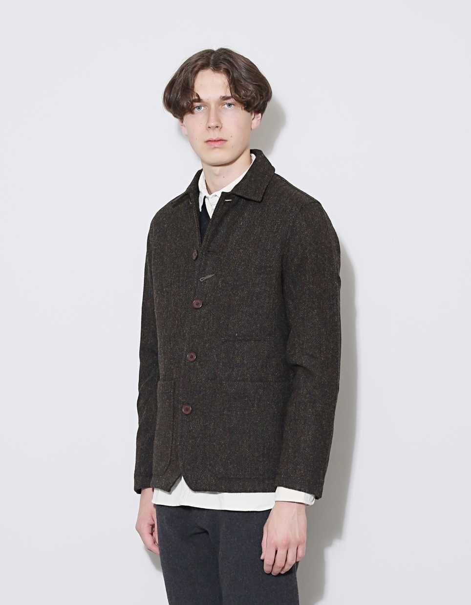 88fa393fffbea Universal works harris tweed chore jacket nitty gritty store jpg 964x1238 Universal  works harris tweed coat