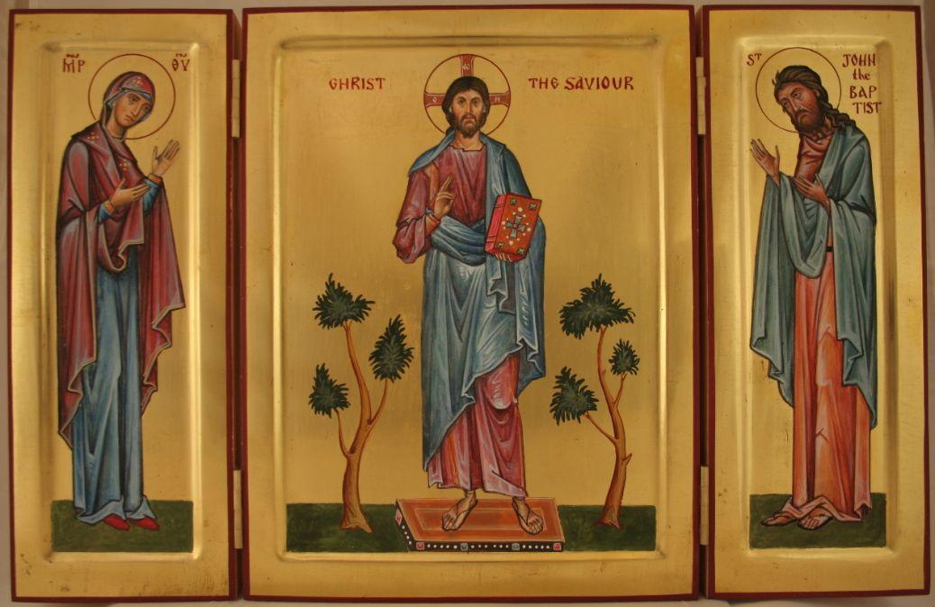 Deisis Triptych - Aidan Hart Sacred Icons