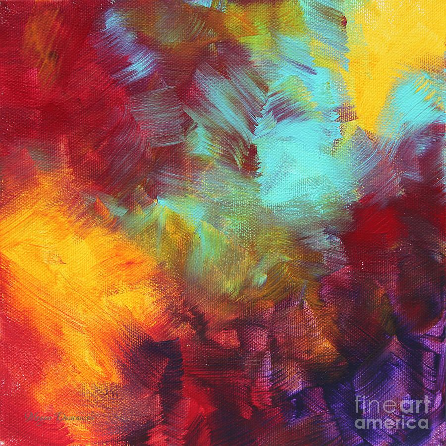 Color Painting abstract painting - abstract original painting colorful vivid art