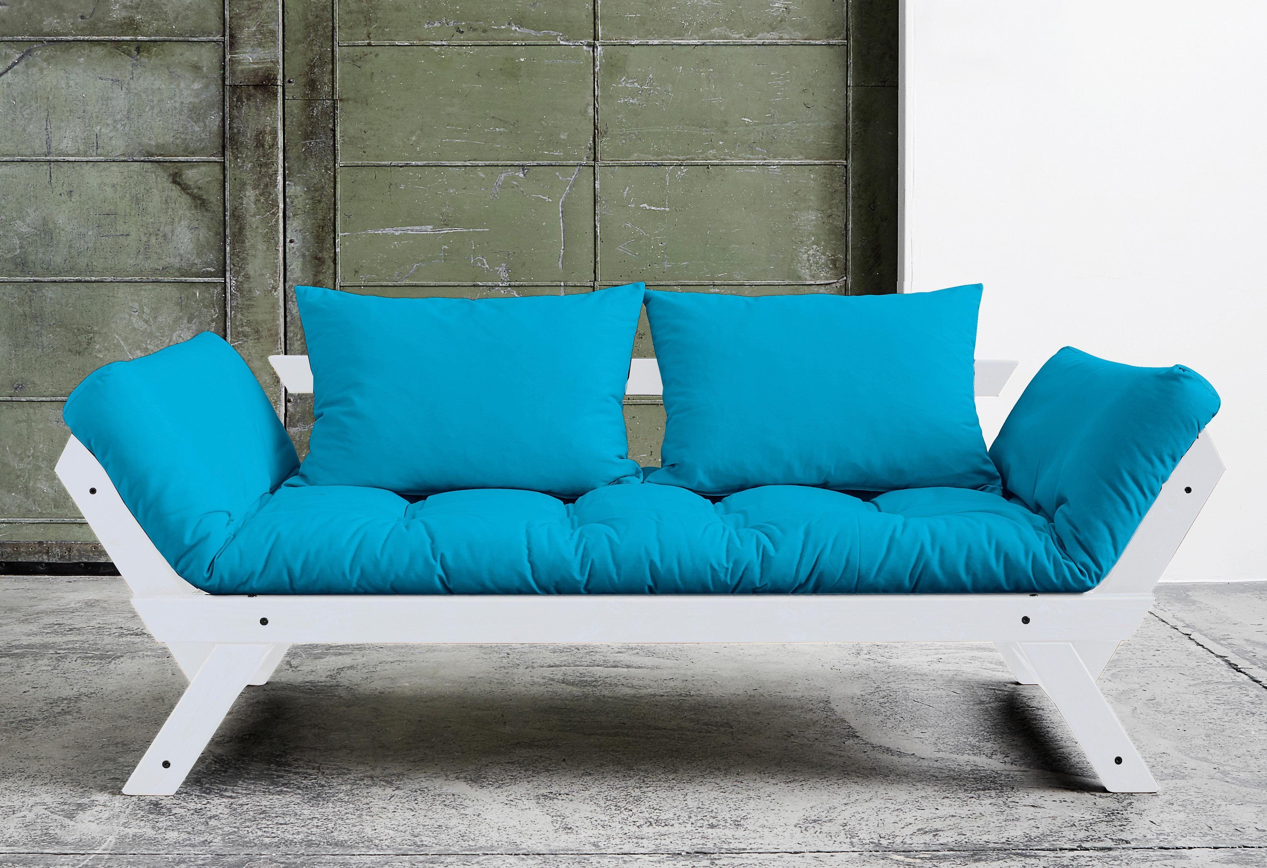 Wohnzimmer sofas schlafsofa blau betten diapers
