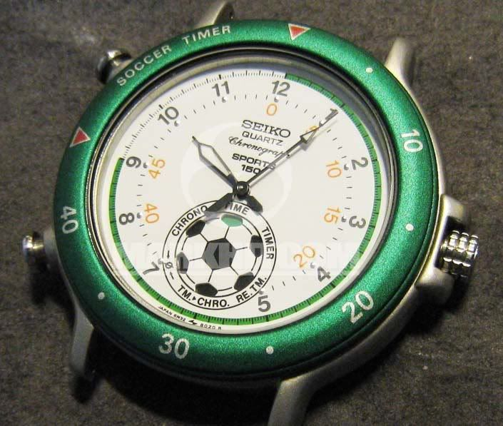 SEIKO Soccer Timer Quartz Chronograph SPORTS 150 Watch