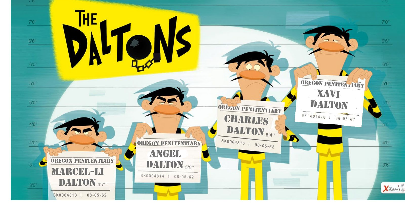 The Daltons Figurin Estampado Illustration