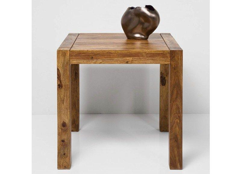 AUTHENTICO by KARE-DESIGN| Tavolo quadrato in legno 0,75 x 0,75 x 0,75 m