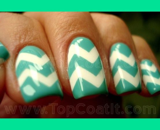 Chevron Nails | Aisha K.'s Photo | Beautylish