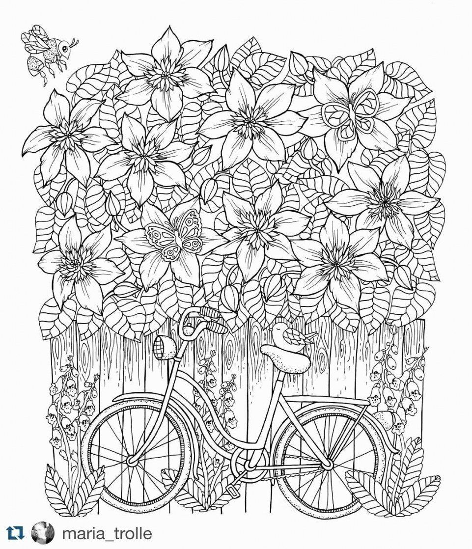 Colouring Flowers for Adults Unique Coloring Pages for ...