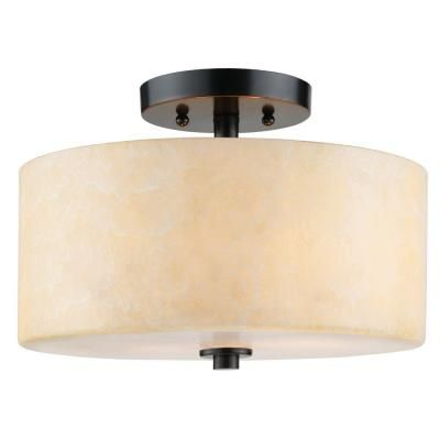 For Master Br Cordova Collection 2 Light Bronze Semi Flush 18406