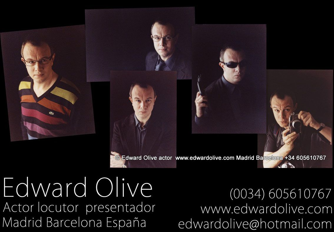 Actor, locutor y presentador inglés británico nativo en Madrid y Barcelona España British English actors, TV presenter & voice over talent Madrid Spain