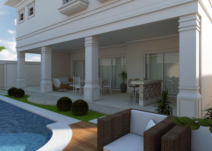 Projeto planta desenho casa cl ssica neocl ssica lazer for Casa classica villa medici