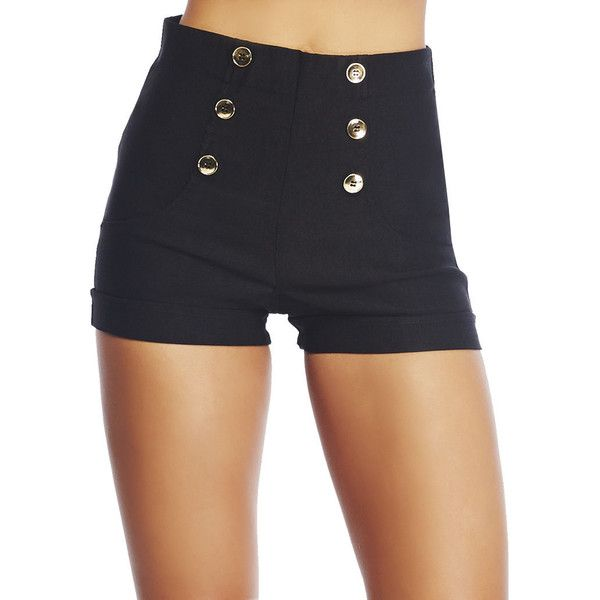 8458884be0f9 High Waisted Fancy Short ($17) ❤ liked on Polyvore featuring shorts,  bottoms, wet seal shorts, highwaist shorts, high waisted short shorts, ...