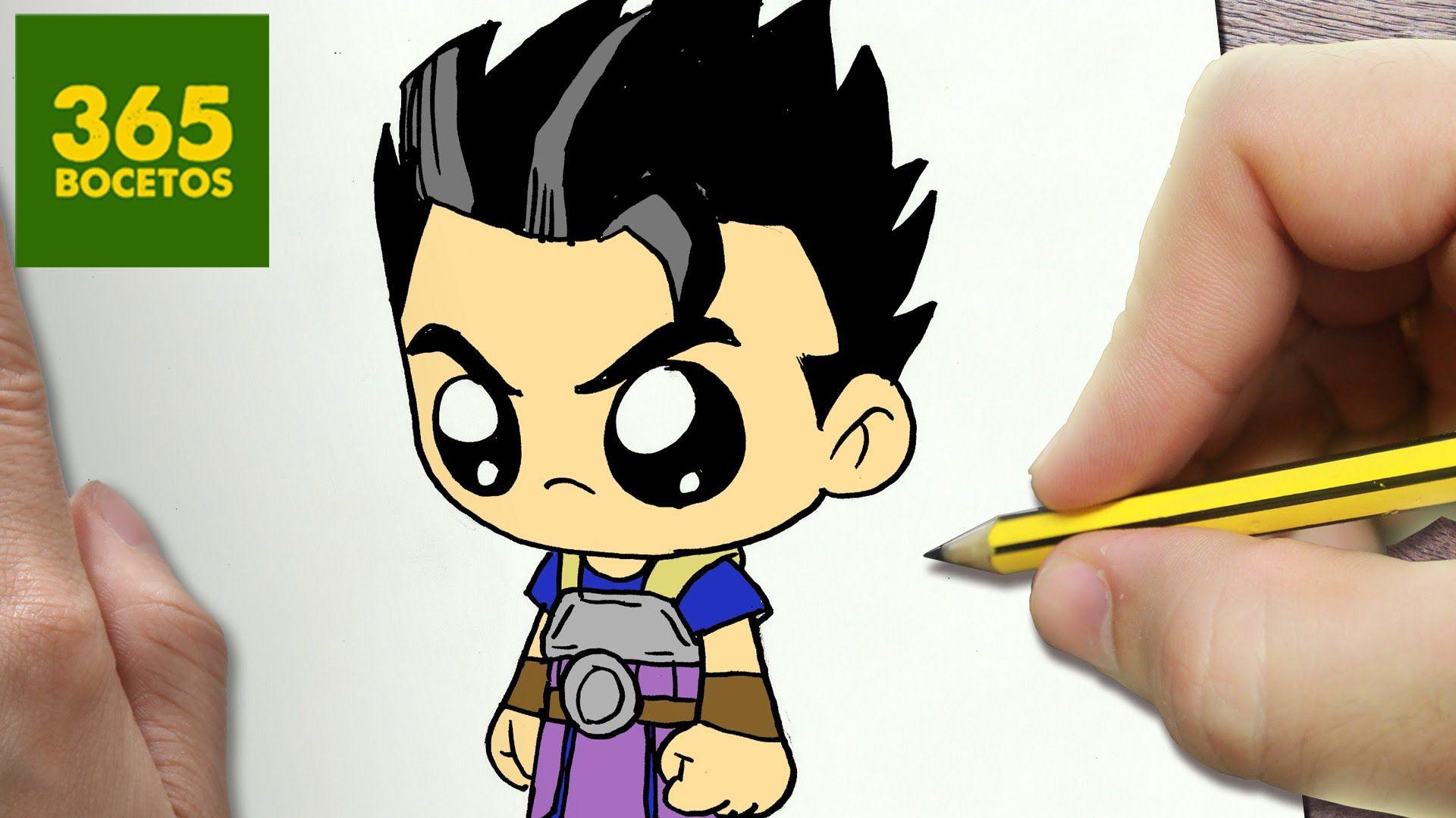 Como Dibujar Kyabe Dragon Ball Super Kawaii Paso A Paso Dibujos