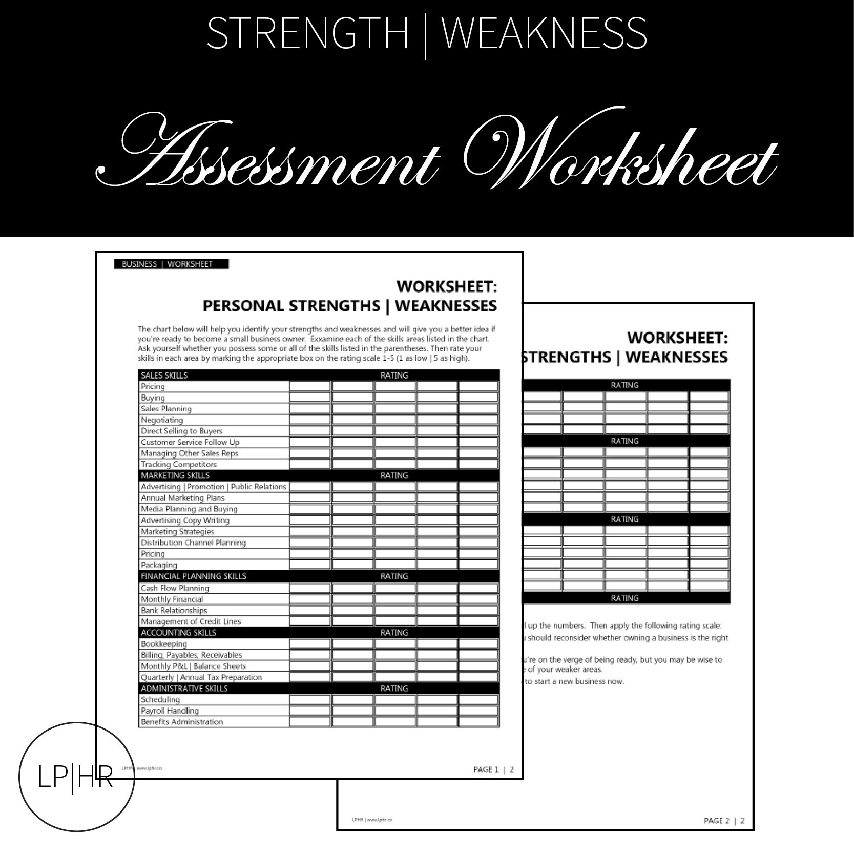 Assessment Worksheet For Your Career Search Lphr