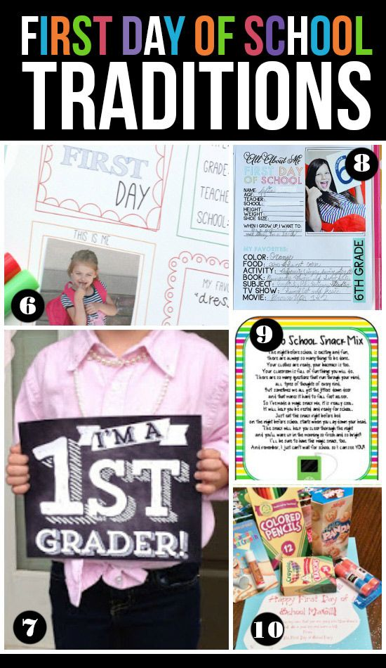 First Day of School Traditions and Ideas - From The Dating Divas
